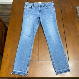 Free People jeans with fringe bottom size 29